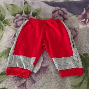 American Stitch Red and Silver Shorts